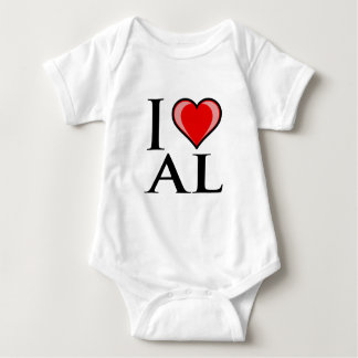 I Love AL - Alabama Baby Bodysuit