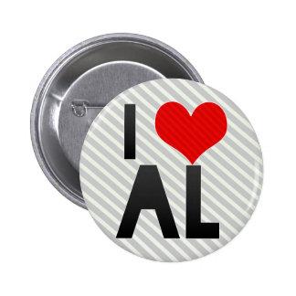 I Love AL Pinback Buttons