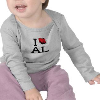 I Love AL - Cotton (Baby Long Sleeve) Shirts