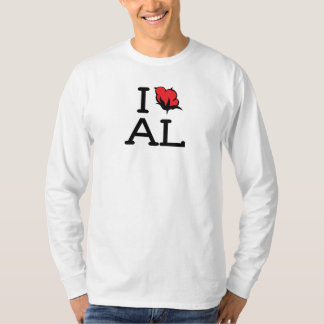 I Love AL - Cotton (Mens Long Sleeve Shirt) T-Shirt