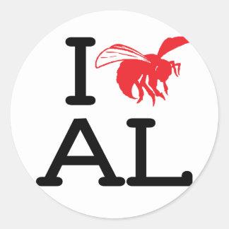 I Love AL - Hornet - 6 pk Stickers