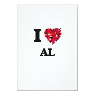 I Love Al 3.5x5 Paper Invitation Card