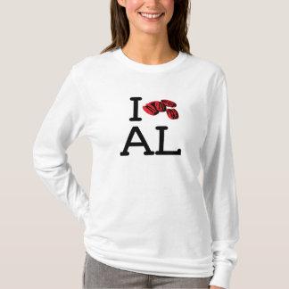I Love AL - Pecans - Ladies Long Sleeve T-Shirt