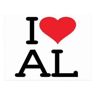 I Love AL (Postcard) Postcard