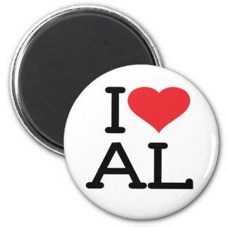 I Love AL - Round Magnet