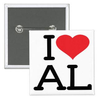 I Love AL - Square Button