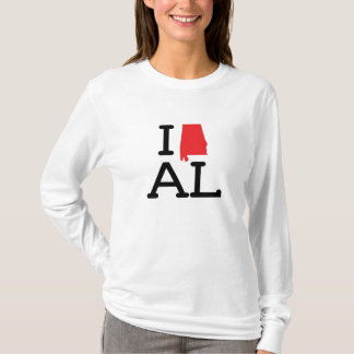 I Love AL - State - Ladies Long Sleeve T-Shirt