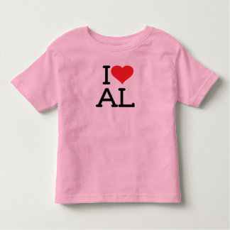 I Love AL - Toddler Ringer Toddler T-shirt