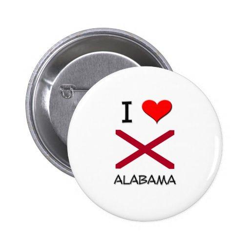 I Love Alabama Button