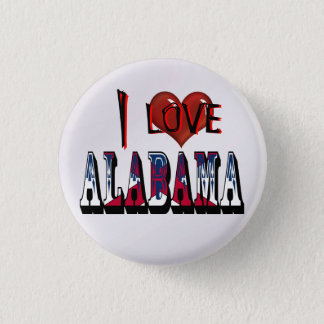 I Love Alabama Button