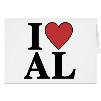 I Love Alabama Card