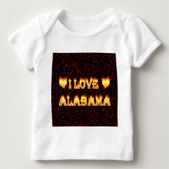 I love alabama fire and flames baby T-Shirt