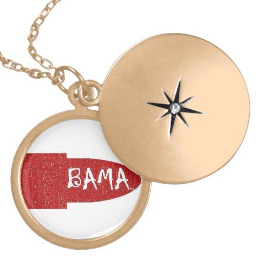 I love Alabama Gold Finish Lip Stick Necklace