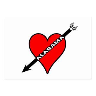 I Love Alabama Heart Business Card Template