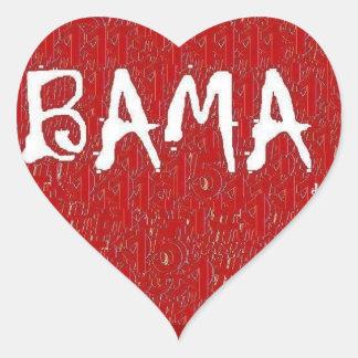 I Love Alabama Heart Sticker By:da'vy