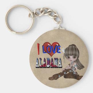 I Love Alabama Key Chain
