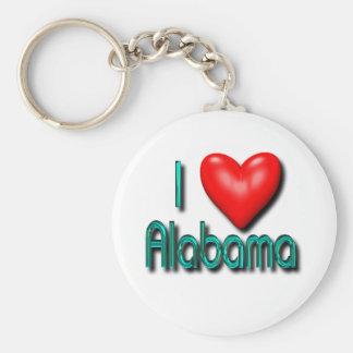 I Love Alabama Keychain