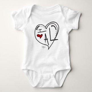 """I Love Alabama"" Kids Apparel Baby Bodysuit"