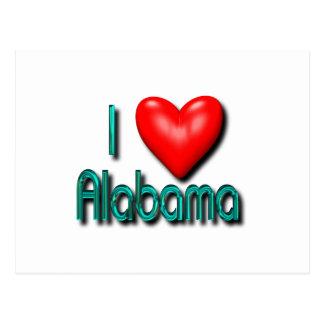 I Love Alabama Post Card
