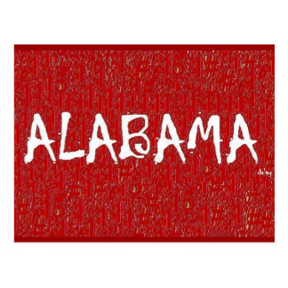 I Love Alabama Post Card by:da'vy