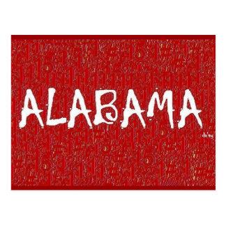 I Love Alabama Post Card by:da'vy