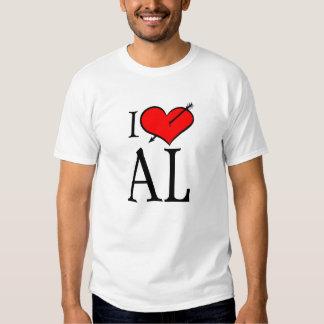 I Love Alabama Tee Shirt