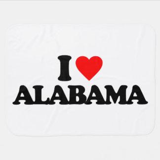I LOVE ALABAMA SWADDLE BLANKET