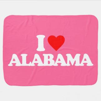 I LOVE ALABAMA SWADDLE BLANKETS