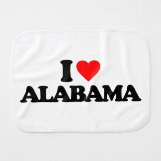 I LOVE ALABAMA BURP CLOTH