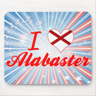 I Love Alabaster, Alabama Mousepads