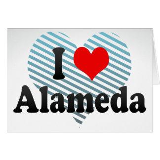 I Love Alameda United States Greeting Card