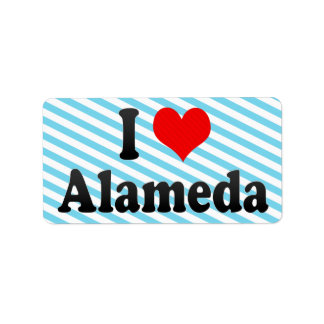 I Love Alameda, United States Personalized Address Label