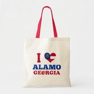 I Love Alamo, Georgia Canvas Bags