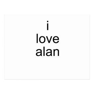 I Love Alan Postcard