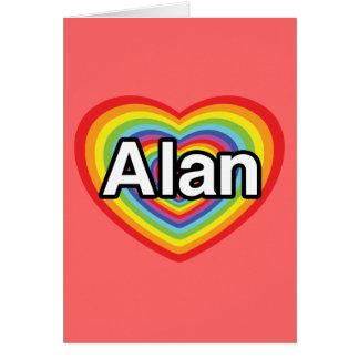 I love Alan, rainbow heart Card