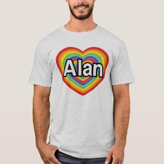 I love Alan, rainbow heart T-Shirt