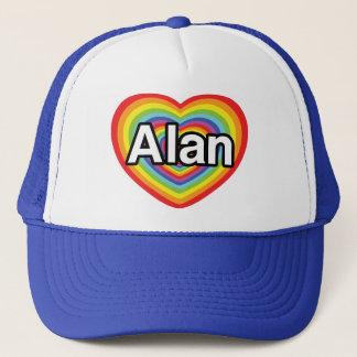 I love Alan, rainbow heart Trucker Hat