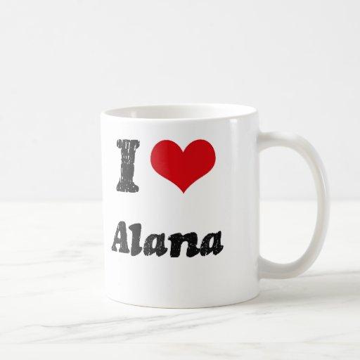 I Love Alana Classic White Coffee Mug