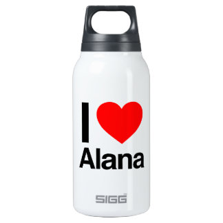 i love alana 10 oz insulated SIGG thermos water bottle