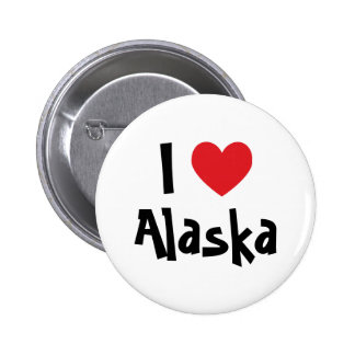 I Love Alaska 2 Inch Round Button