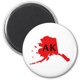 I Love Alaska -  AK 2 Inch Round Magnet