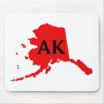 I Love Alaska -  AK Mousepad