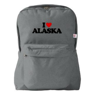 I LOVE ALASKA AMERICAN APPAREL™ BACKPACK