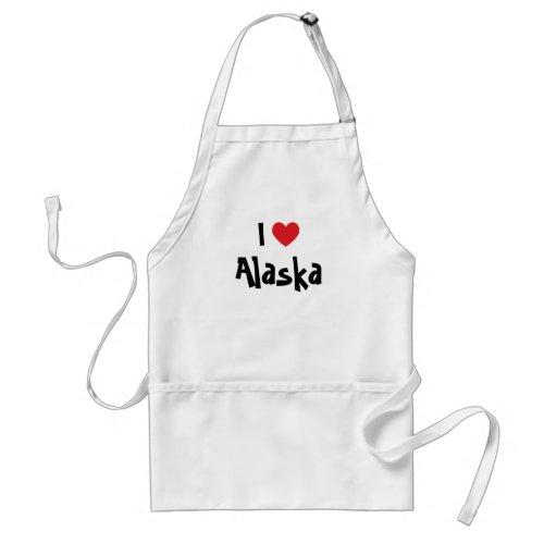 I Love Alaska apron
