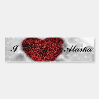 I love Alaska Bumper Sticker Car Bumper Sticker