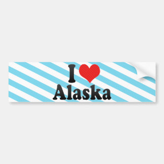I Love  Alaska Bumper Stickers