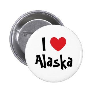 I Love Alaska Buttons