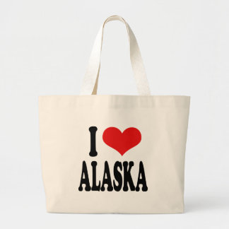I Love Alaska Canvas Bags