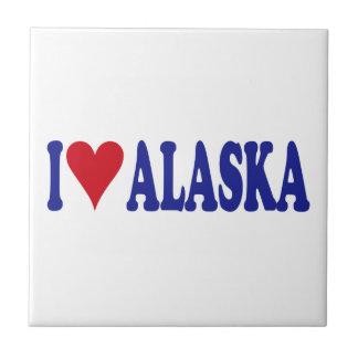 I Love Alaska Ceramic Tiles