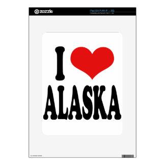 I Love Alaska Decal For iPad